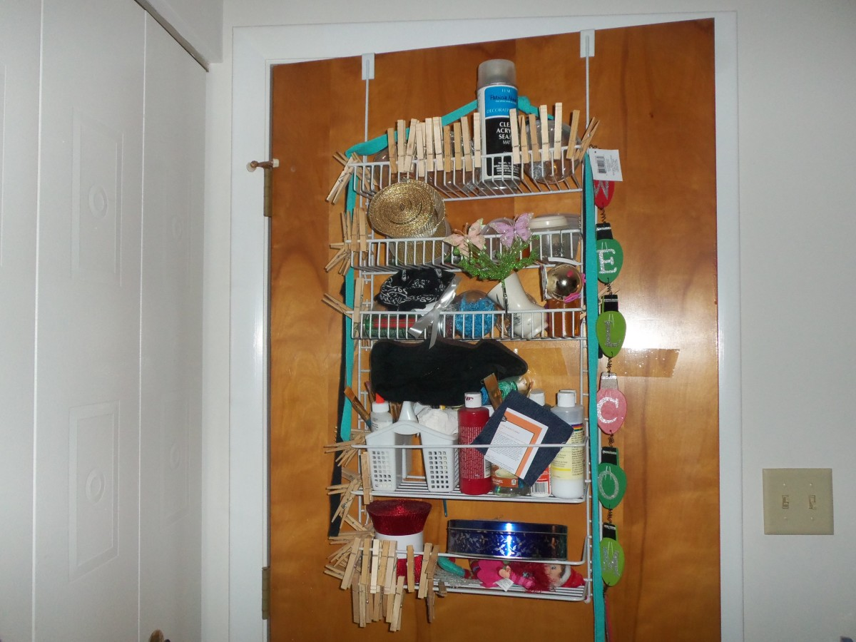 This over the door shelving gives you a ton of storage without taking up much room.