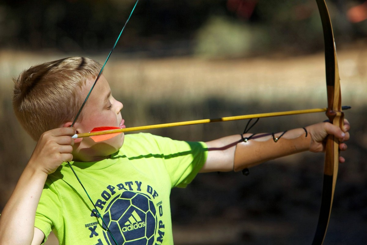 Archery is a popular camp activity.