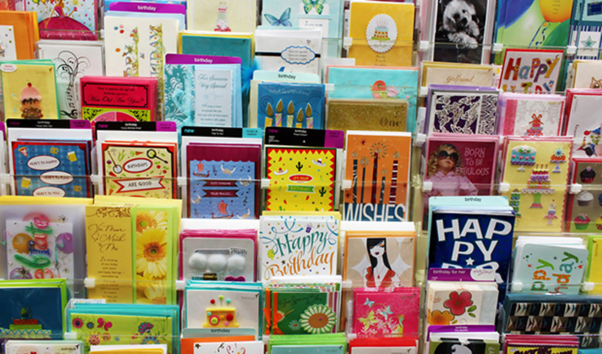 Note: Not actual 99 cent store greeting cards. Quality may vary, but you can usually find some pretty decent ones!