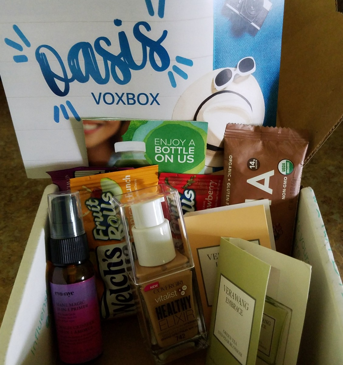 The Oasis Voxbox Campaign. I was invited to test out these complimentary products.