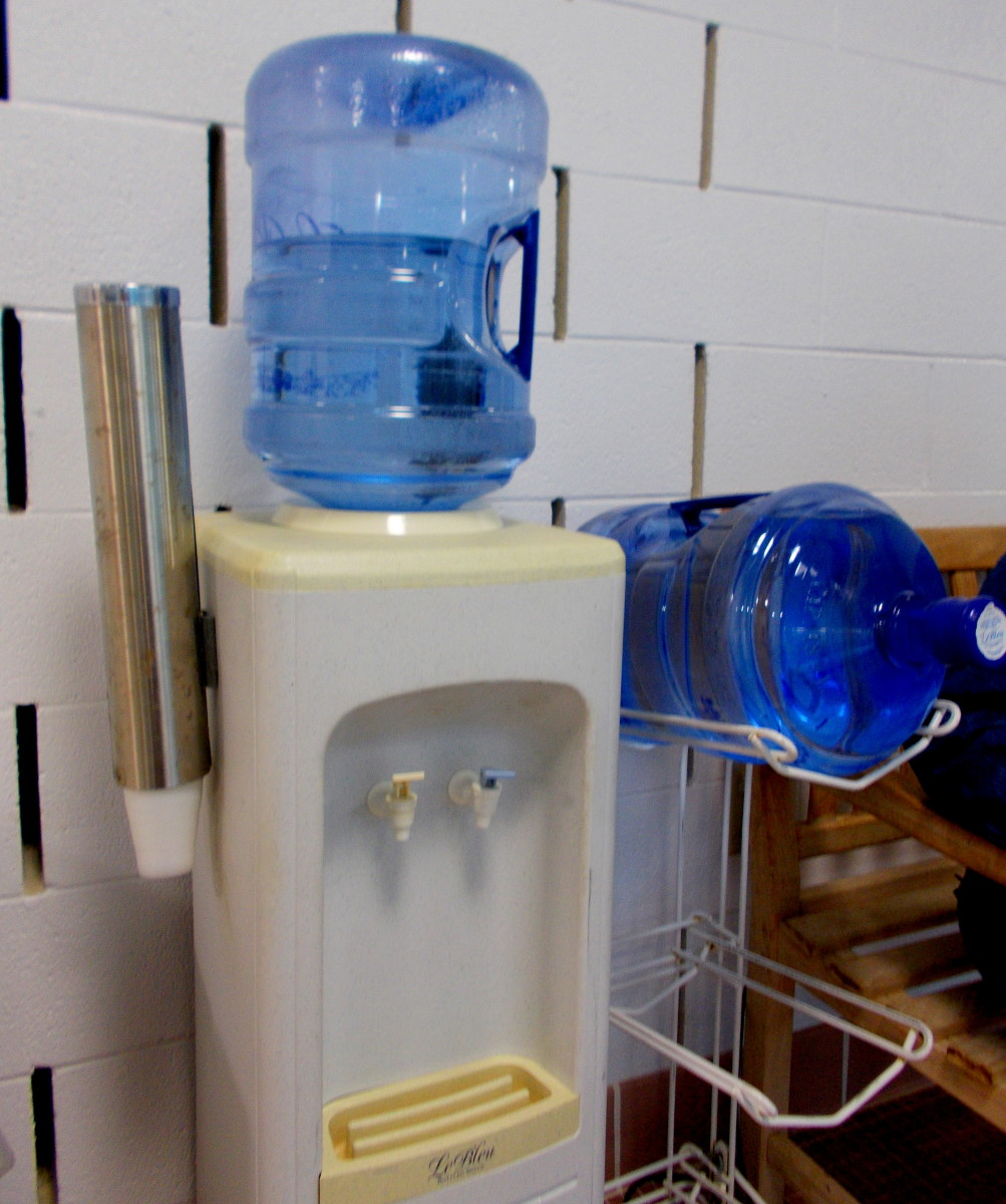 Many office conversations take place around the water cooler.
