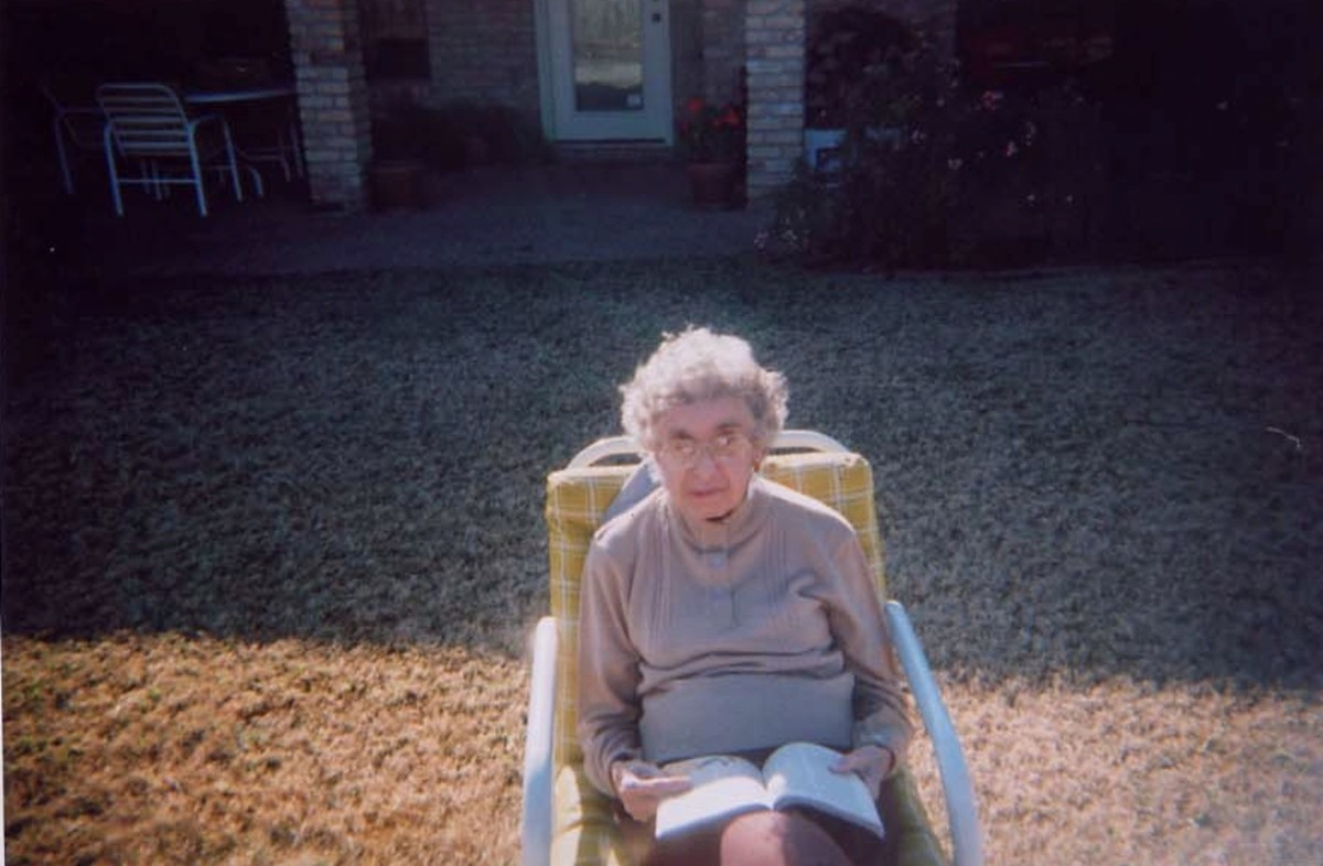 Photo of an elderly woman who may need an aide to assist her with personal care and taking care of her home so that she can stay in her home instead of a nursing home
