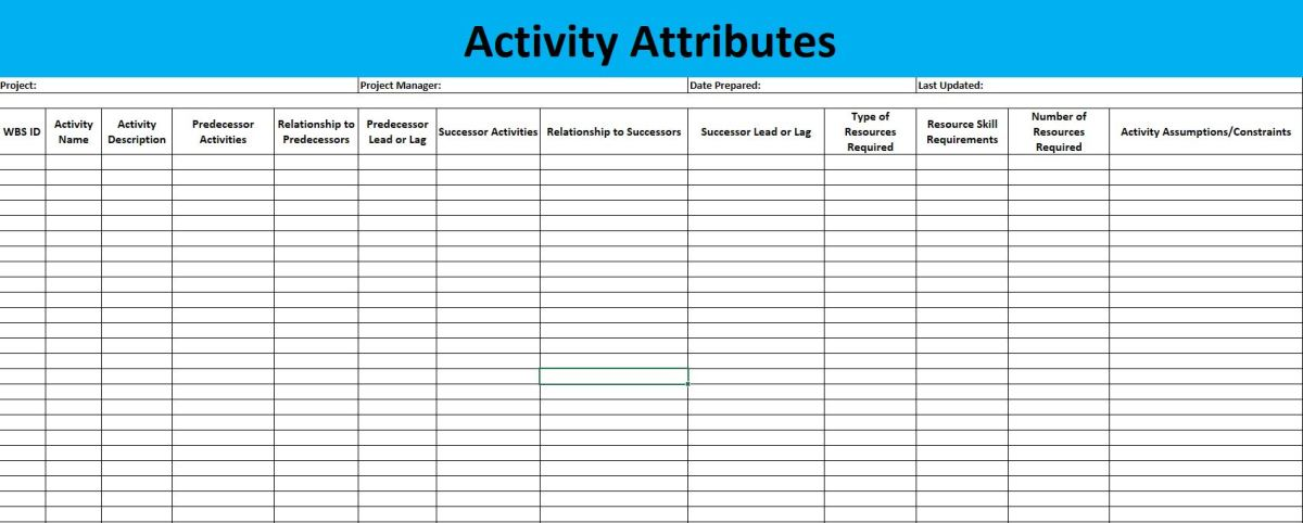 Activity Attributes