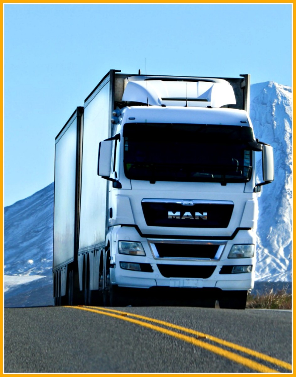 Long haul truckers drive in every type of weather and terrain all across America.