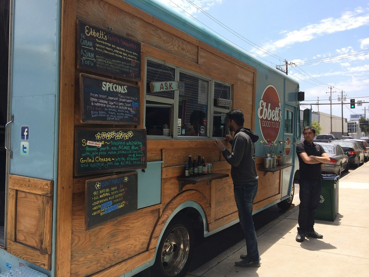Popular location of food trucks