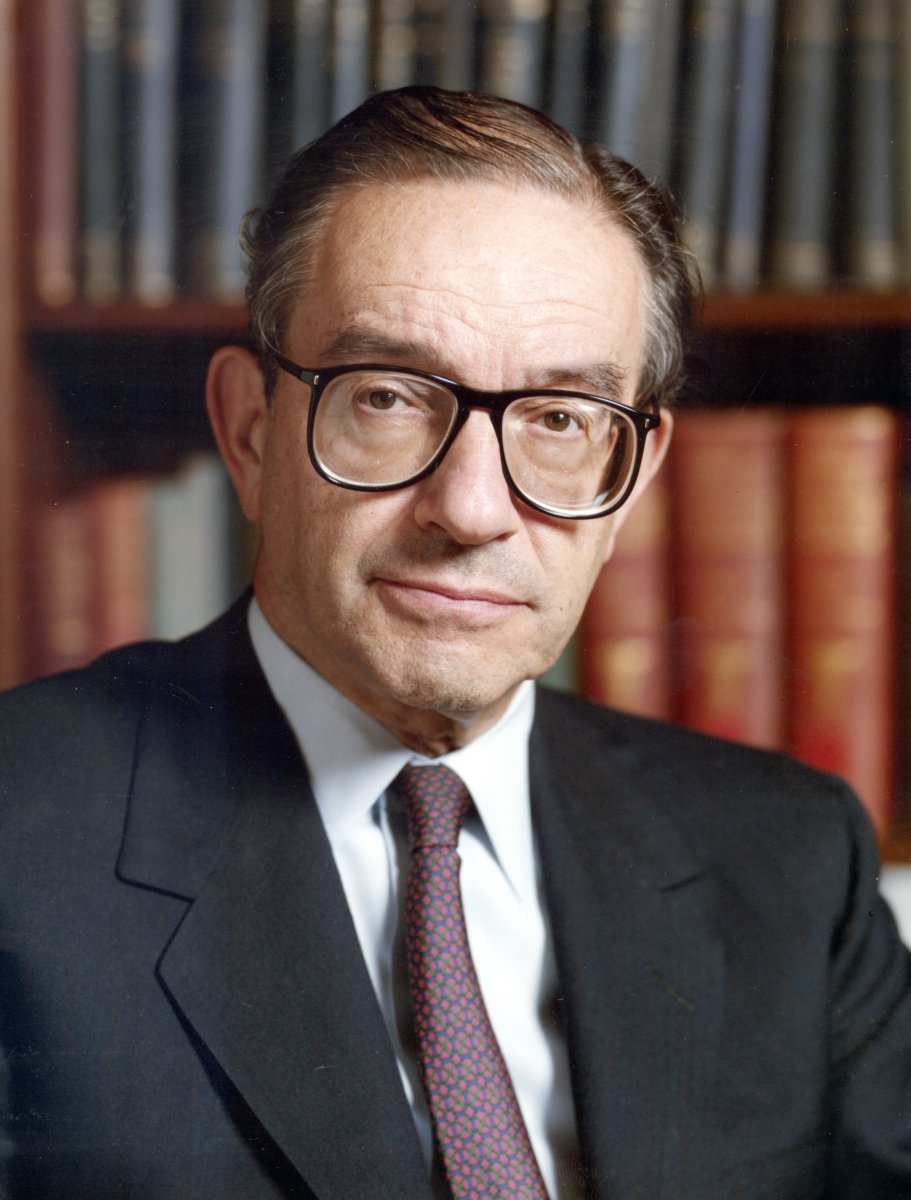 The economist Alan Greenspan who served as Chairman of the Federal Reserve of the United States from 1987 to 2006.