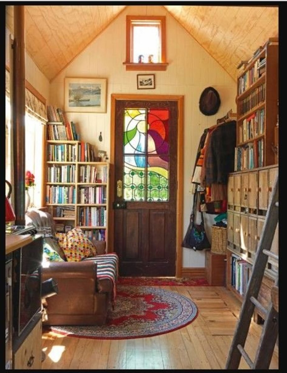 When tiny houses cost so little, there is money left over for exquisite decor!