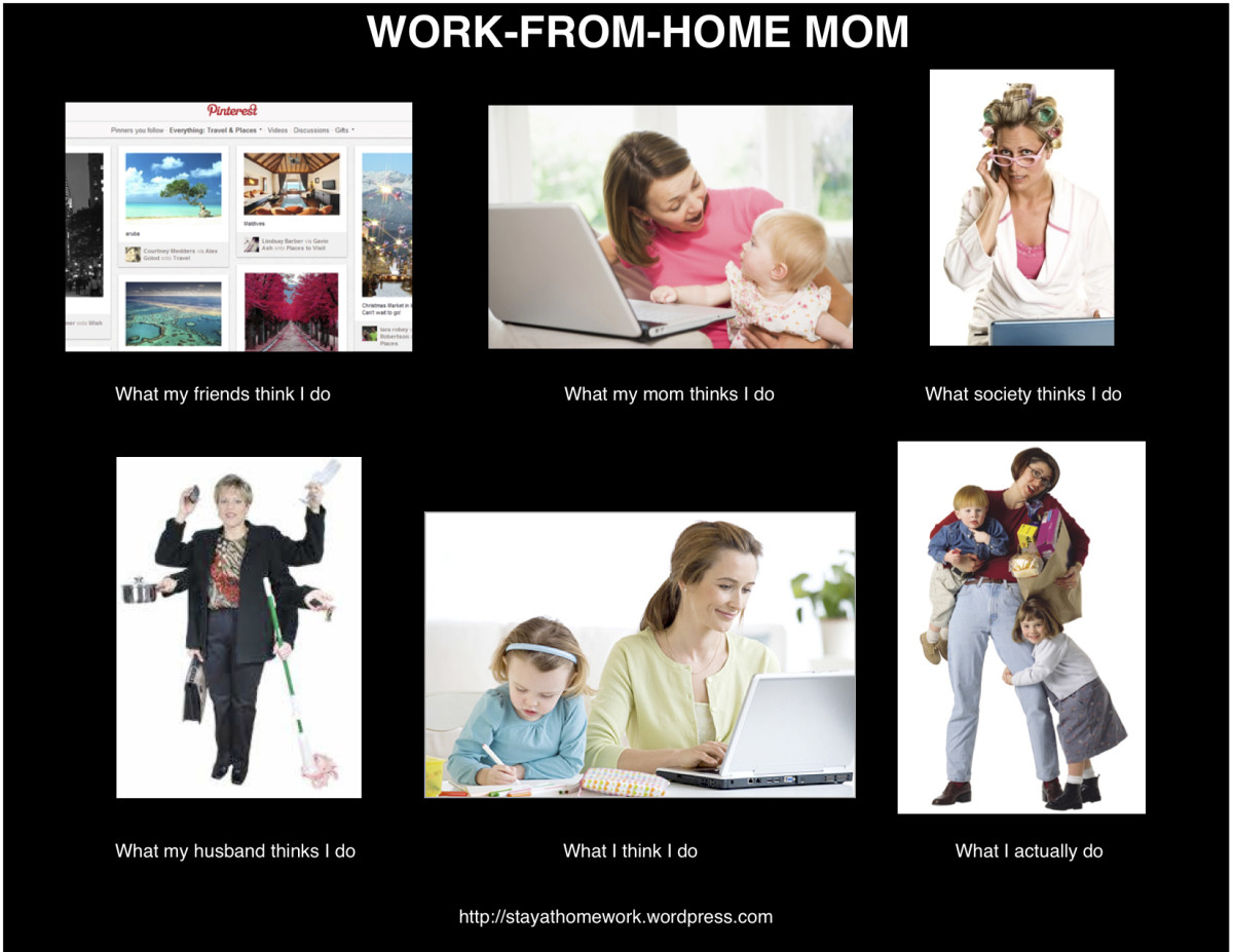 What others think, compared to the reality of working from home.