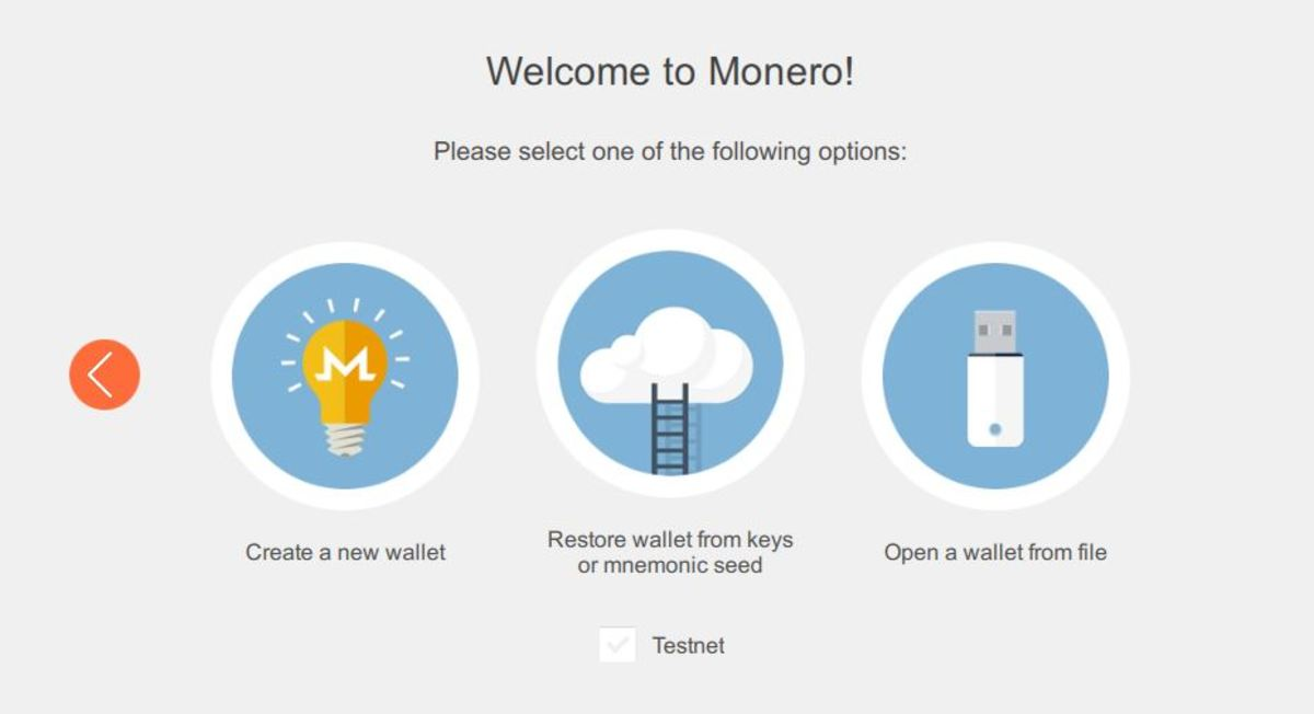Monero wallet installation wizzard