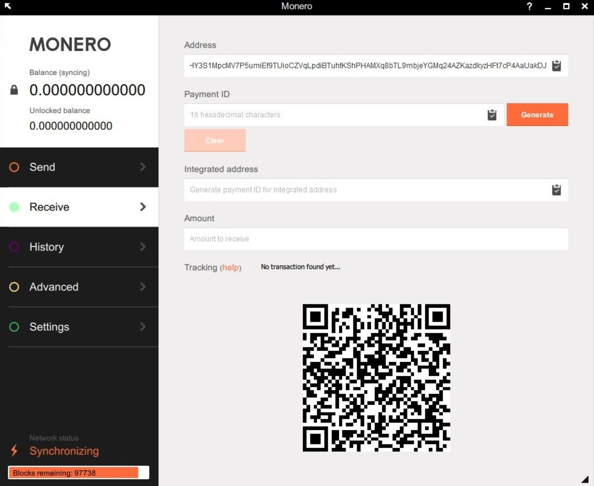 The wallet address can be found on the receive tab of the Monero GUI client.