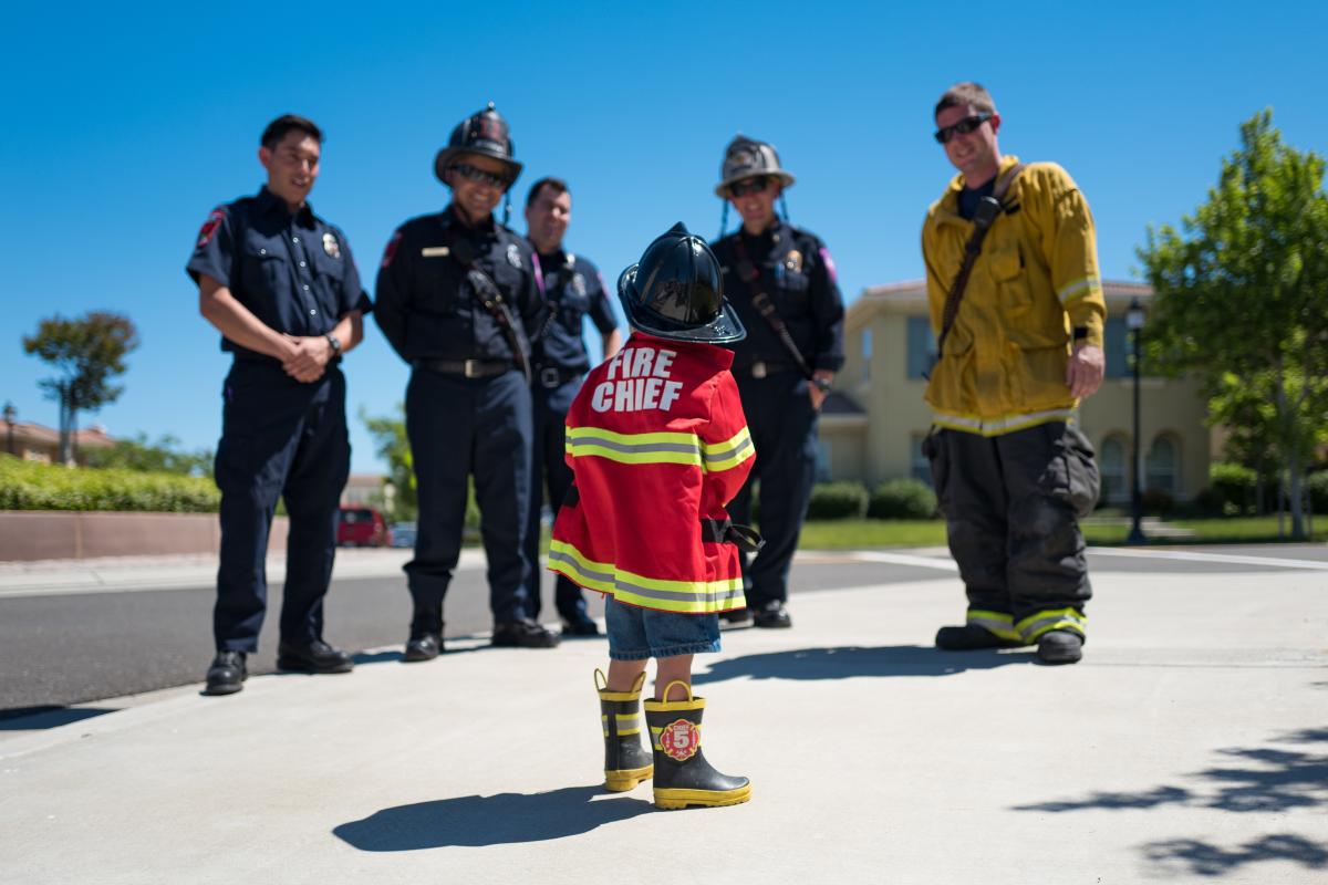 A future firefighter!