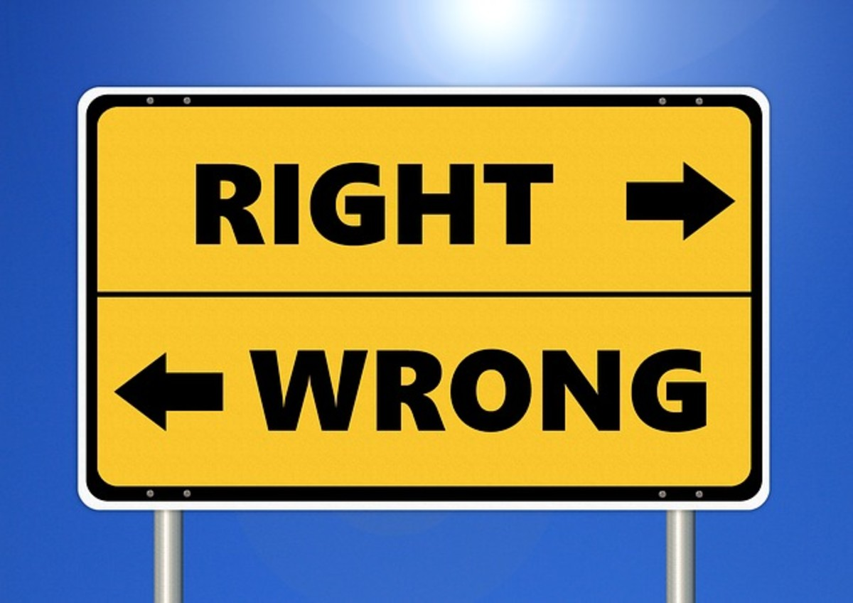 You need to have a clear picture of right and wrong to maintain integrity.