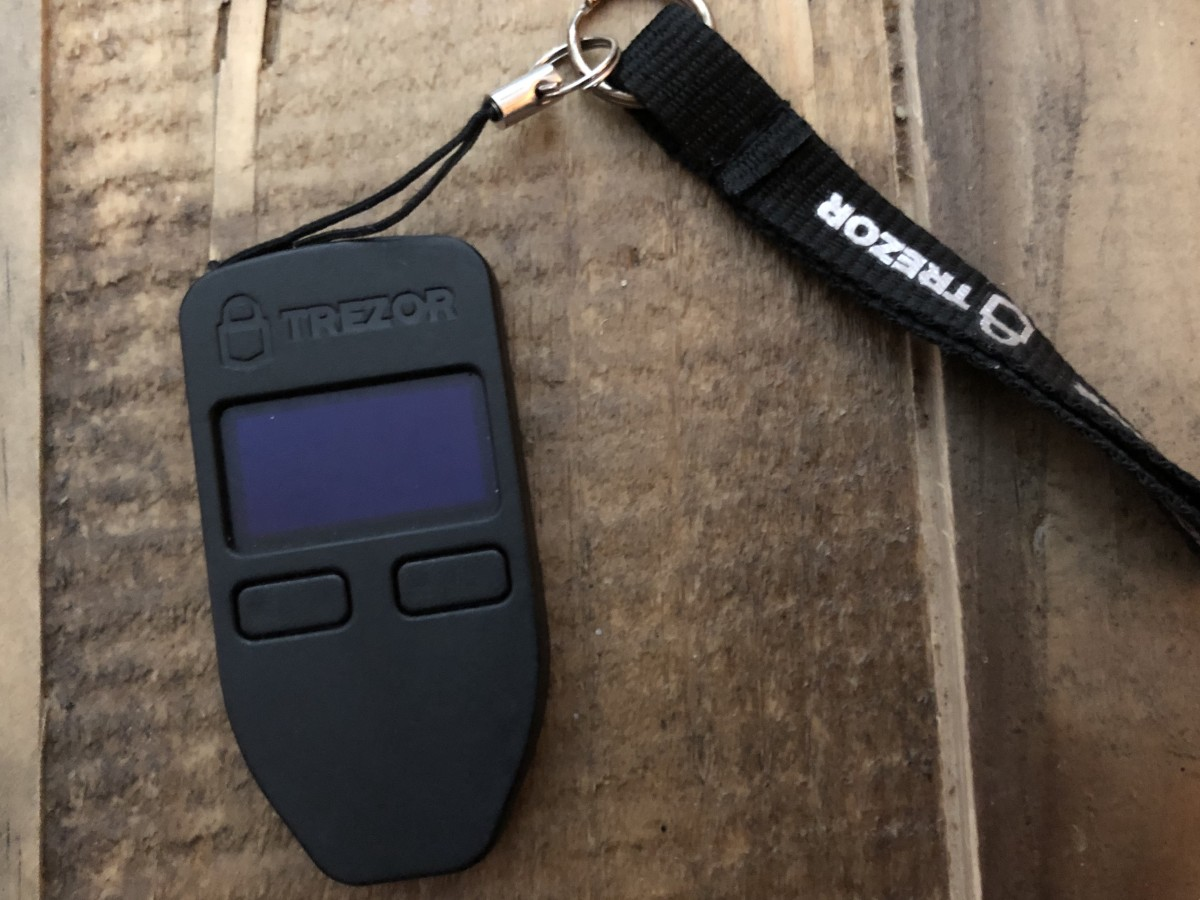 Trezor hardware Bitcoin wallet.