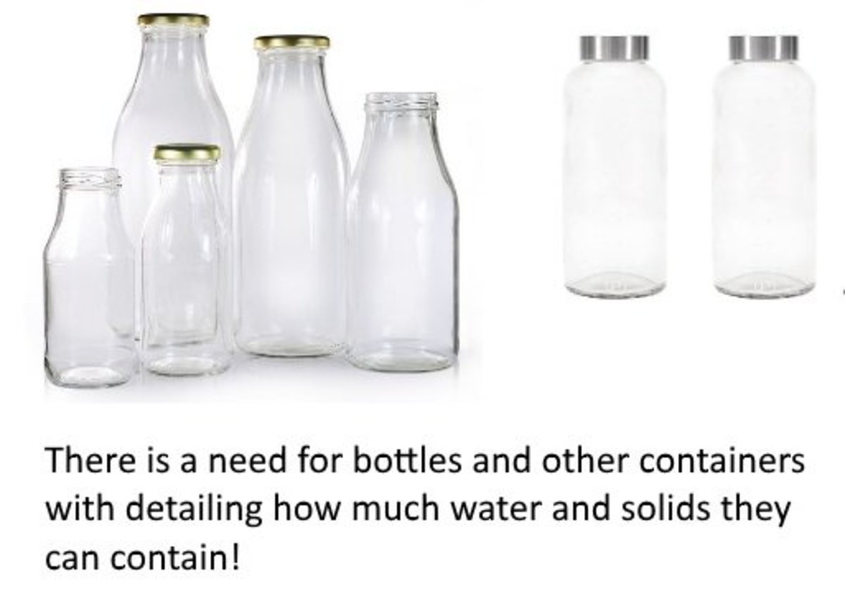 Somebody needs to design and manufacture bottles and other containers that have measurements and their weight on them. That way, consumers can join the zero waste movement and buy goods without packaging.