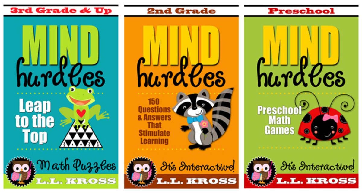 Note how the author branding and series identity are consistent throughout these cover designs, even though the titles, images and colors are different