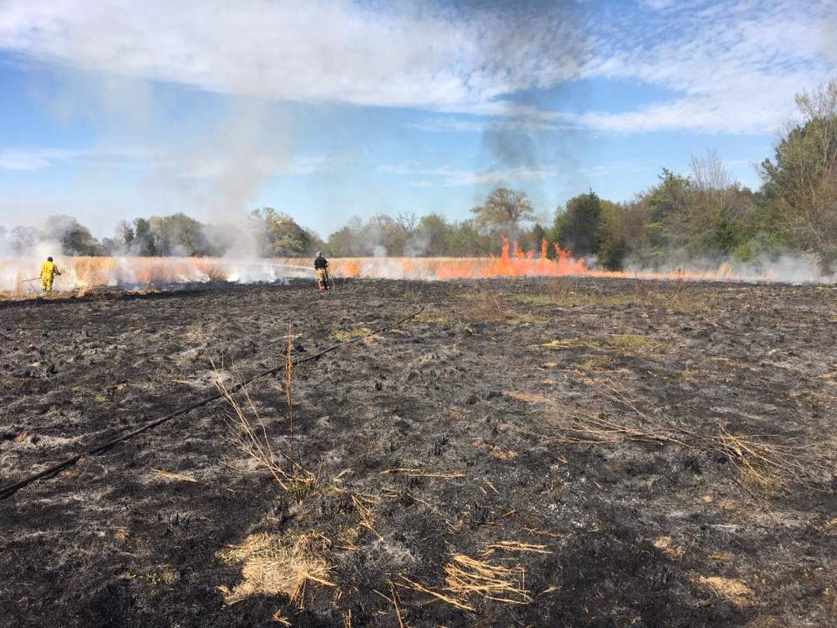 Volunteer Firefighters are often the front line against rural grass and forest fires.