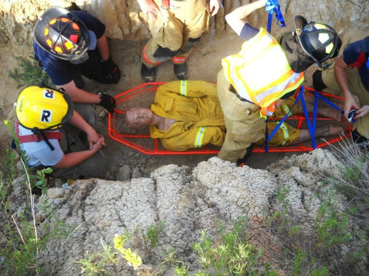 Rescue training is a normal part of department education for volunteer firefighters.