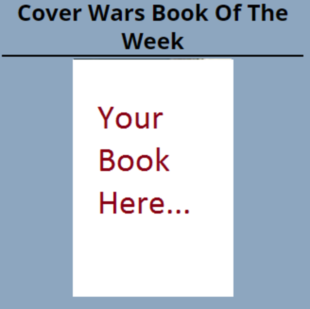 Cover Wars prize advertising slot.