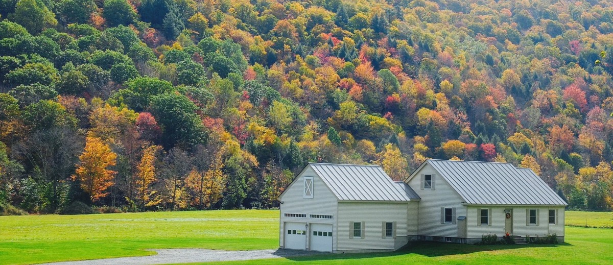 Fall colors, classically Vermont.