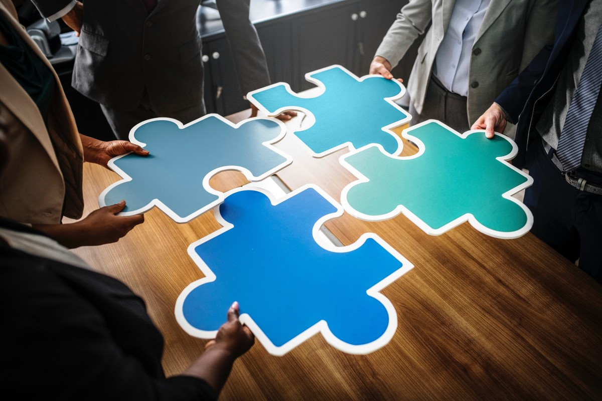 A team that works well together will harmonize like the pieces of a jigsaw puzzle.
