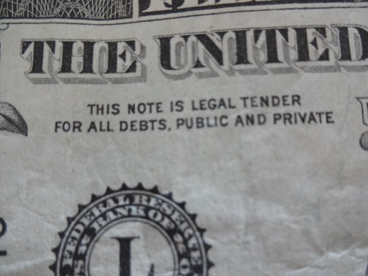 This Note is Legal Tender for all debts, public and private.