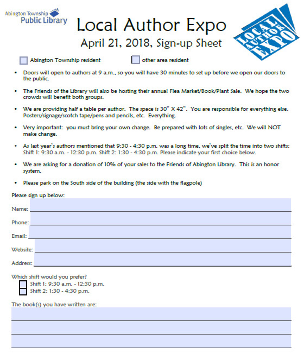 Autho Expo Sign-Up Sheet