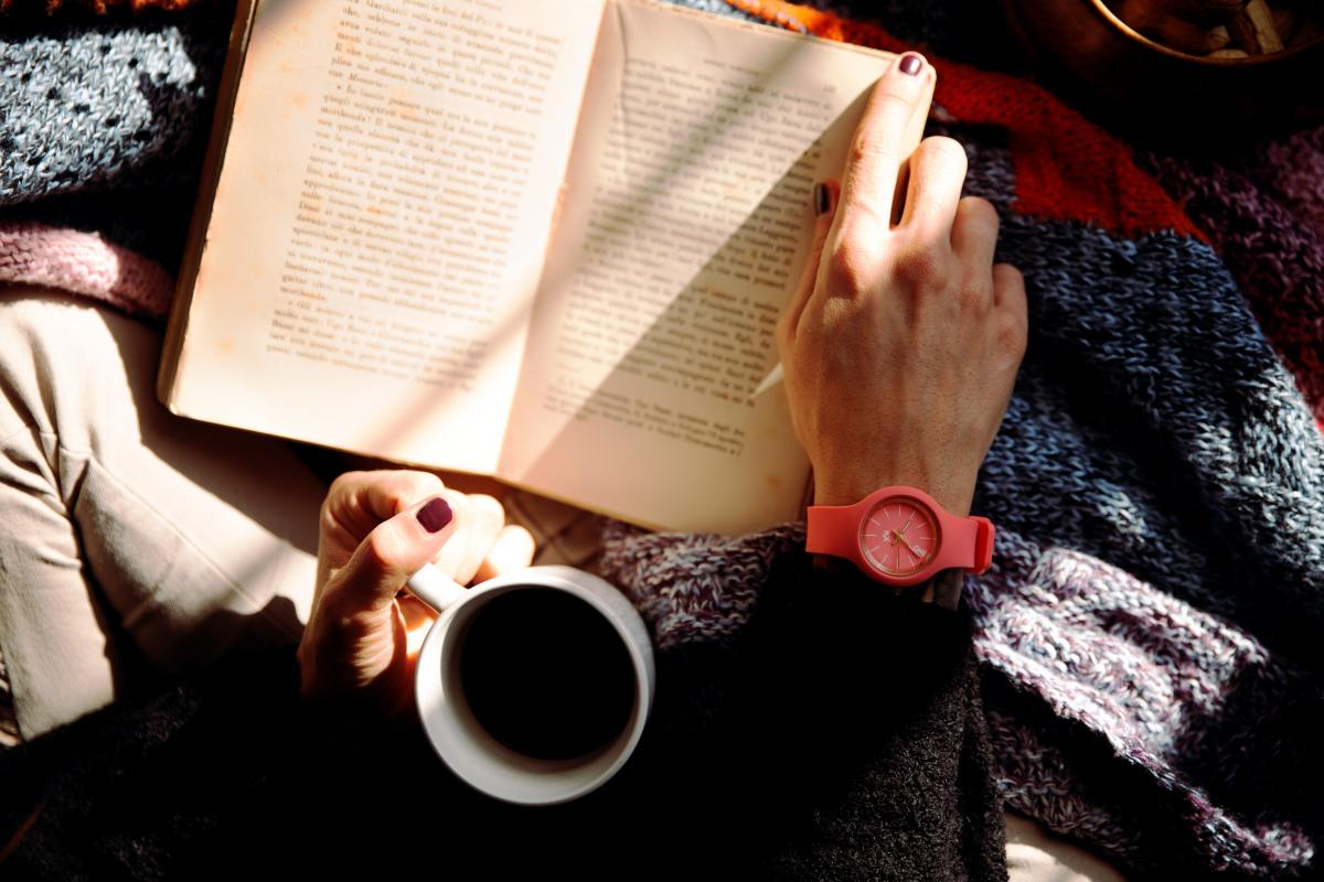 nothing beats a good book and a cup of coffee or tea.