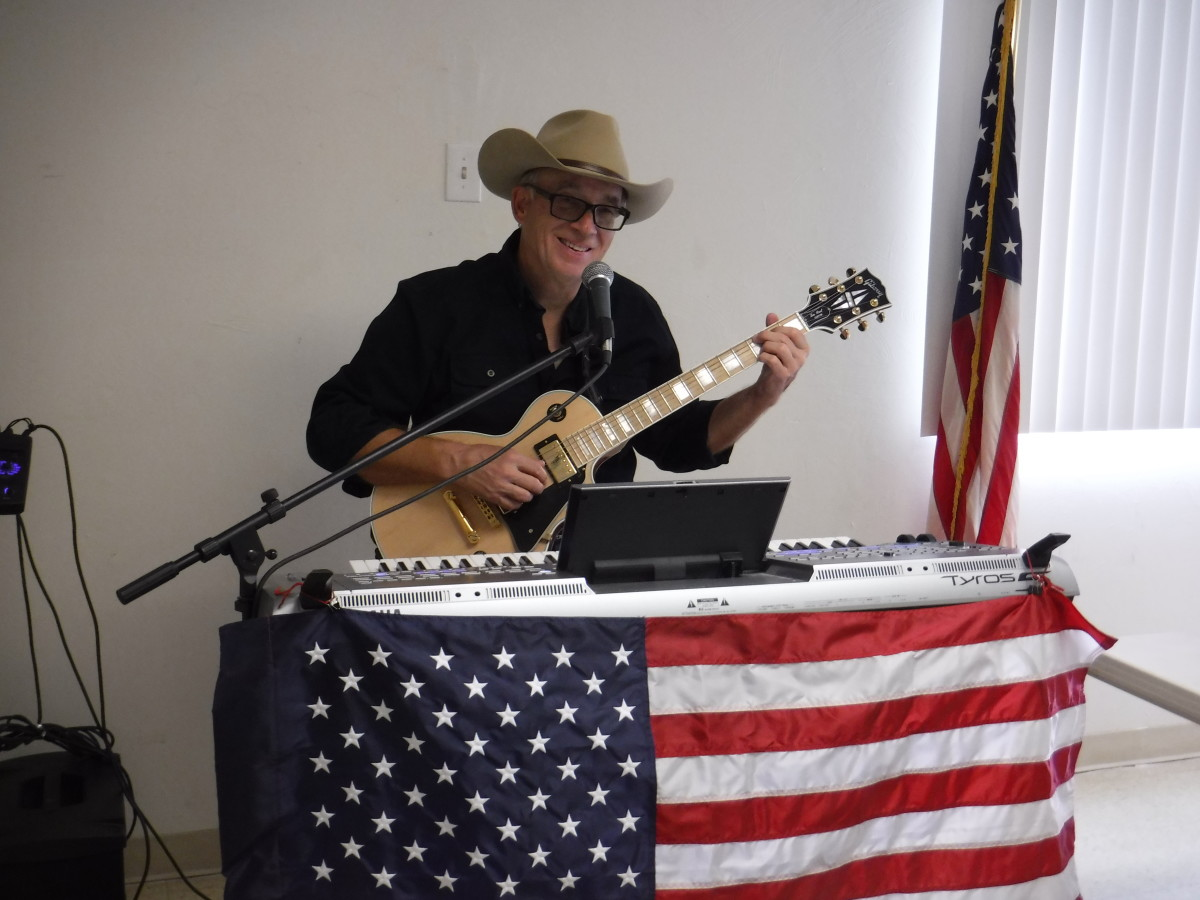 Russ Lane performs at my most recent book release party, held at a VFW lodge.