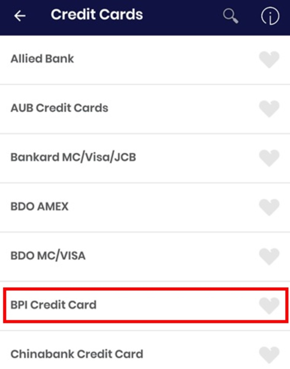 Again, each listed bank also accepts payments via GCash