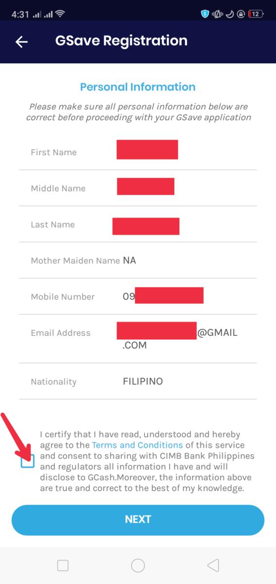 GSave Registration / Application Process