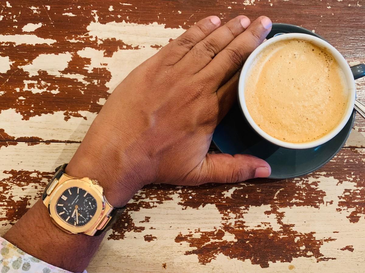 Patek 5712R at the cafe