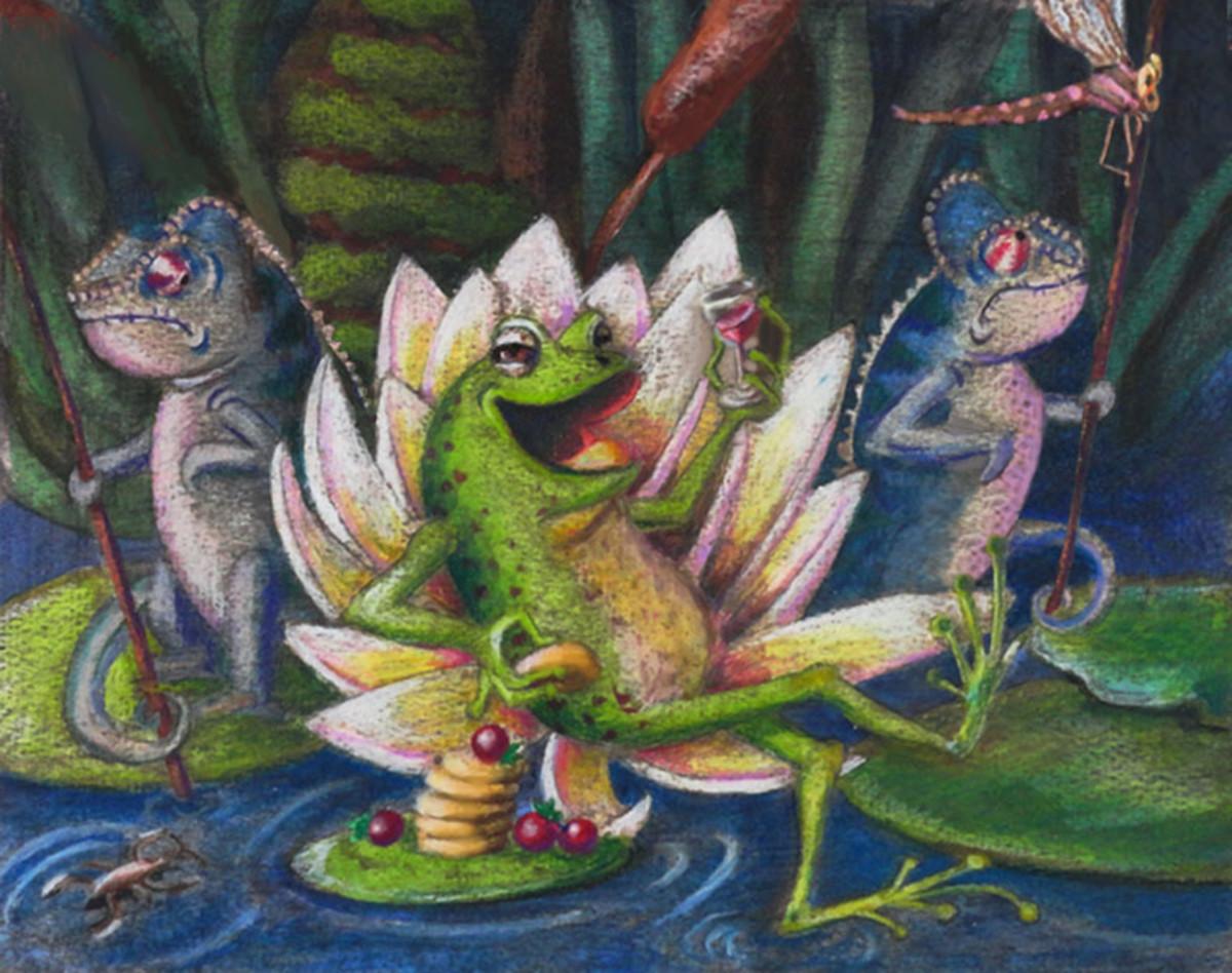 Illustration for The Frog King