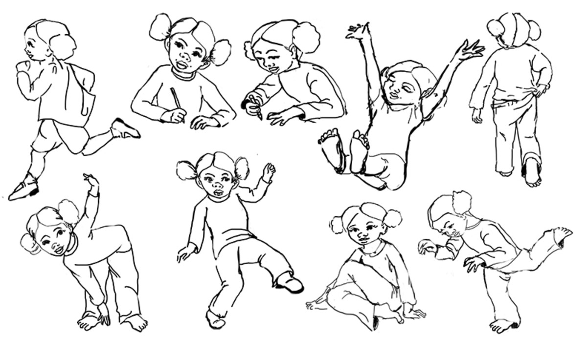 Sketches for character illustrations