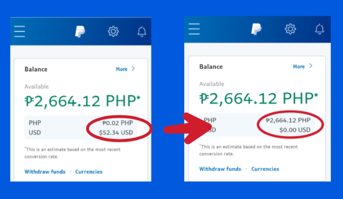 Convert Currency on PayPal