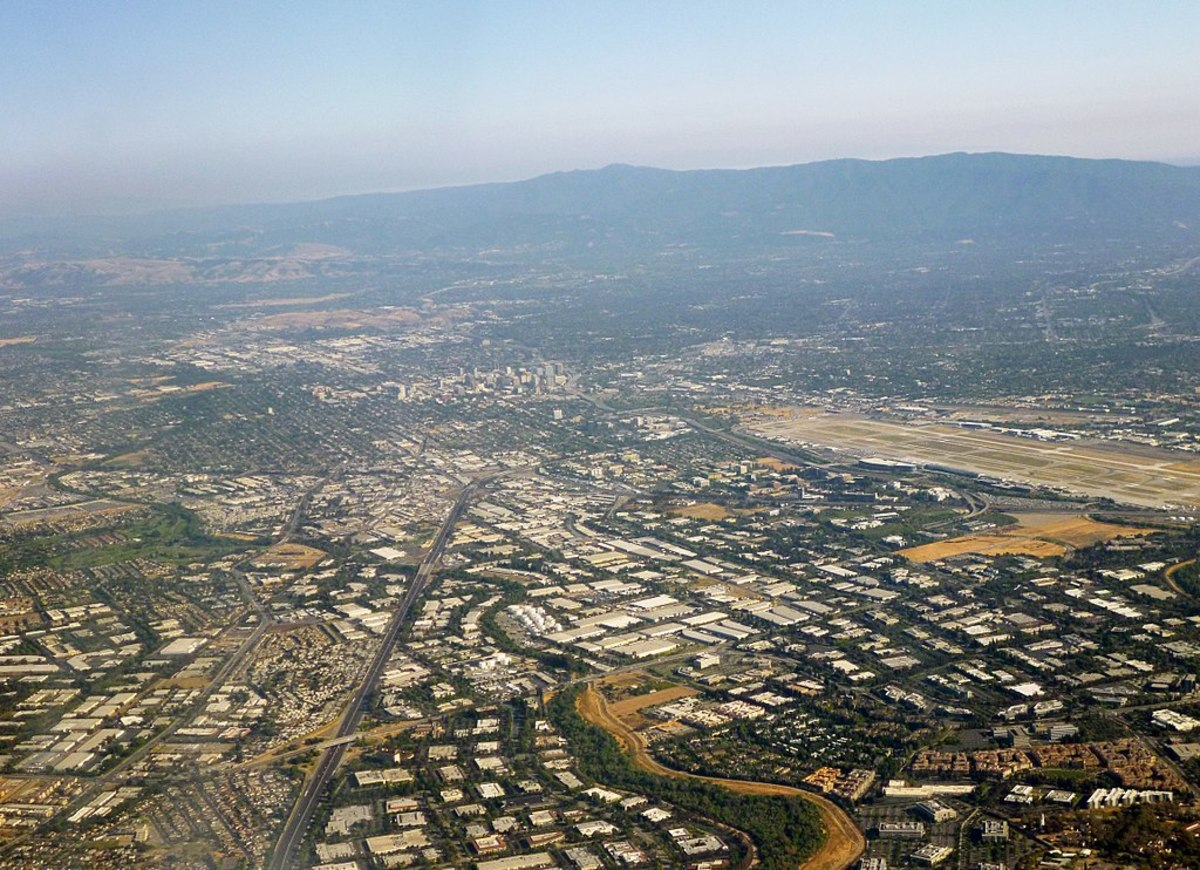 Silicon Valley - looking toward San Jose