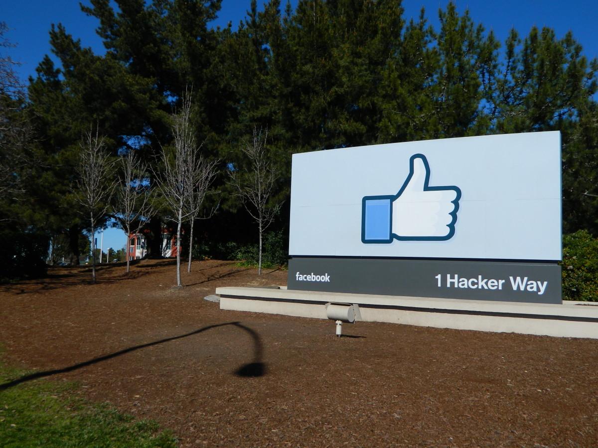 A Facebook sign.