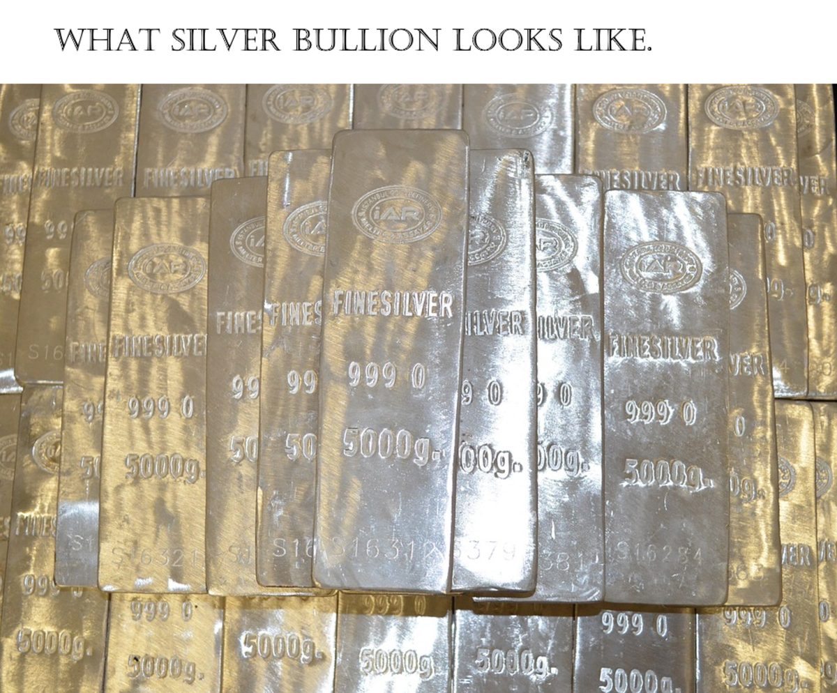 Siver bullion can be kept privately and stored as a means of wealth preservation.