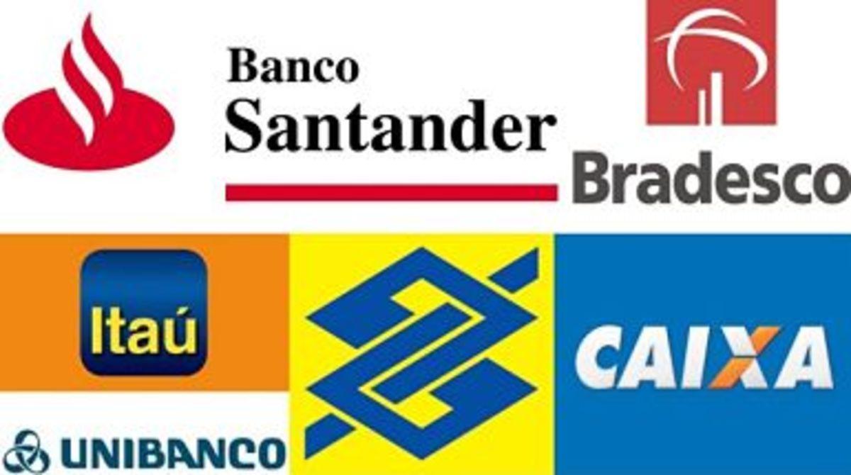 Some of Brazil's major banks: Itaú, Bradesco, Banco do Brasil, Caixa Econômica Federal, Santander