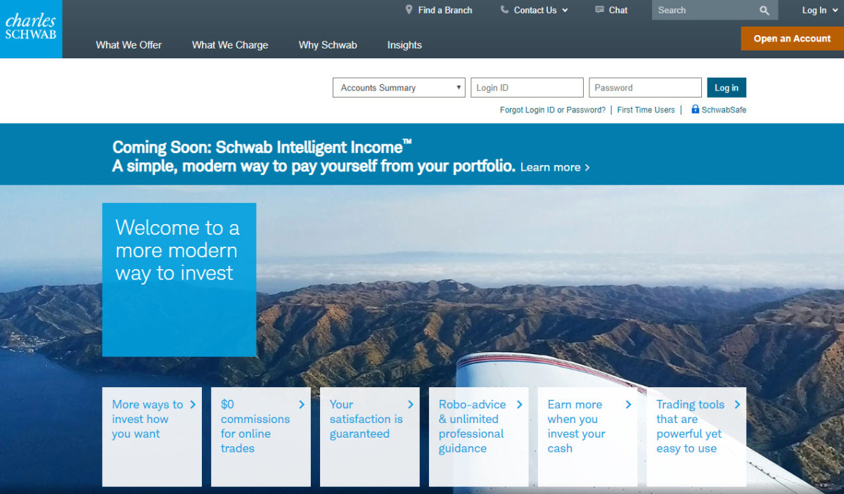 Charles Schwab is an older brokerage that now offers free online trades.