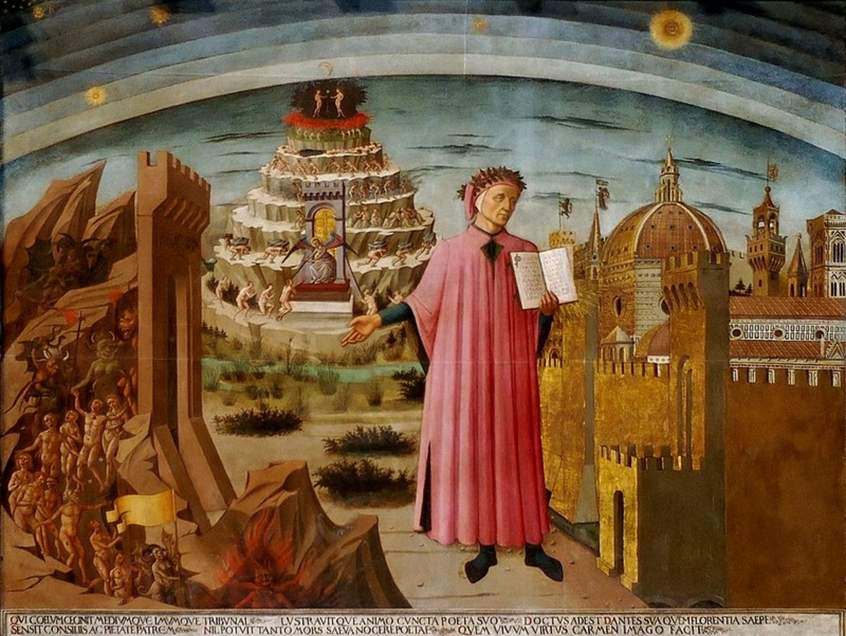 Dante Alighieri was an Italian postman who liked to deliver letters in his socks.  Being a mailman, he had been through all seven circles of hell, then discovered two more that were unknown to the general, non-postal public.