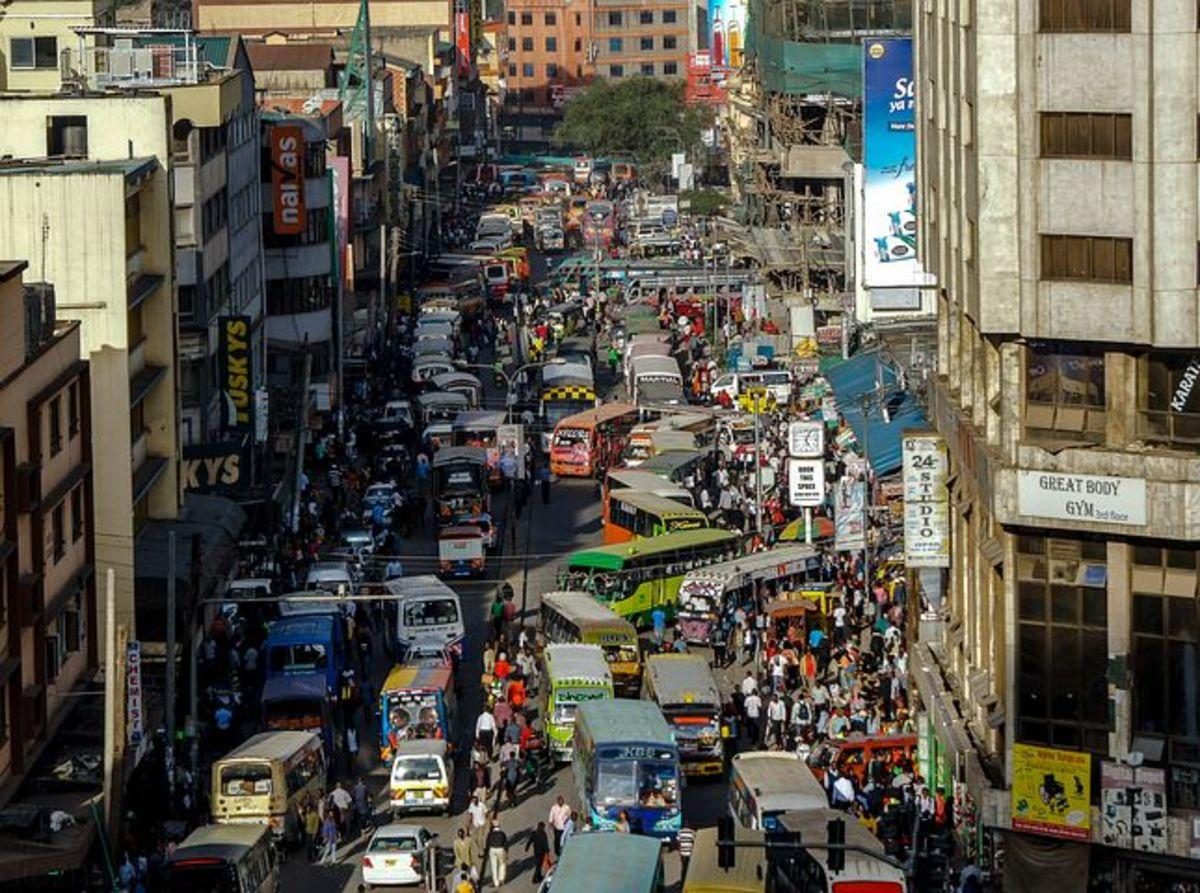 A street in Nairobi, Kenya