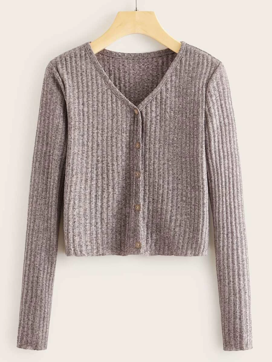 Cozy button up sweater from Romwe.
