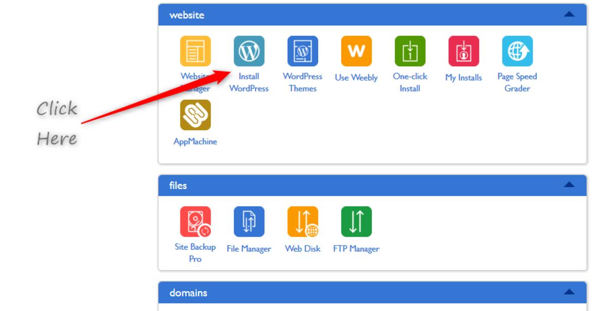 安装WordPress是最后一步。