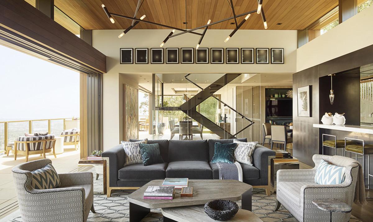 室内设计是传统,现代和现代的住宅。