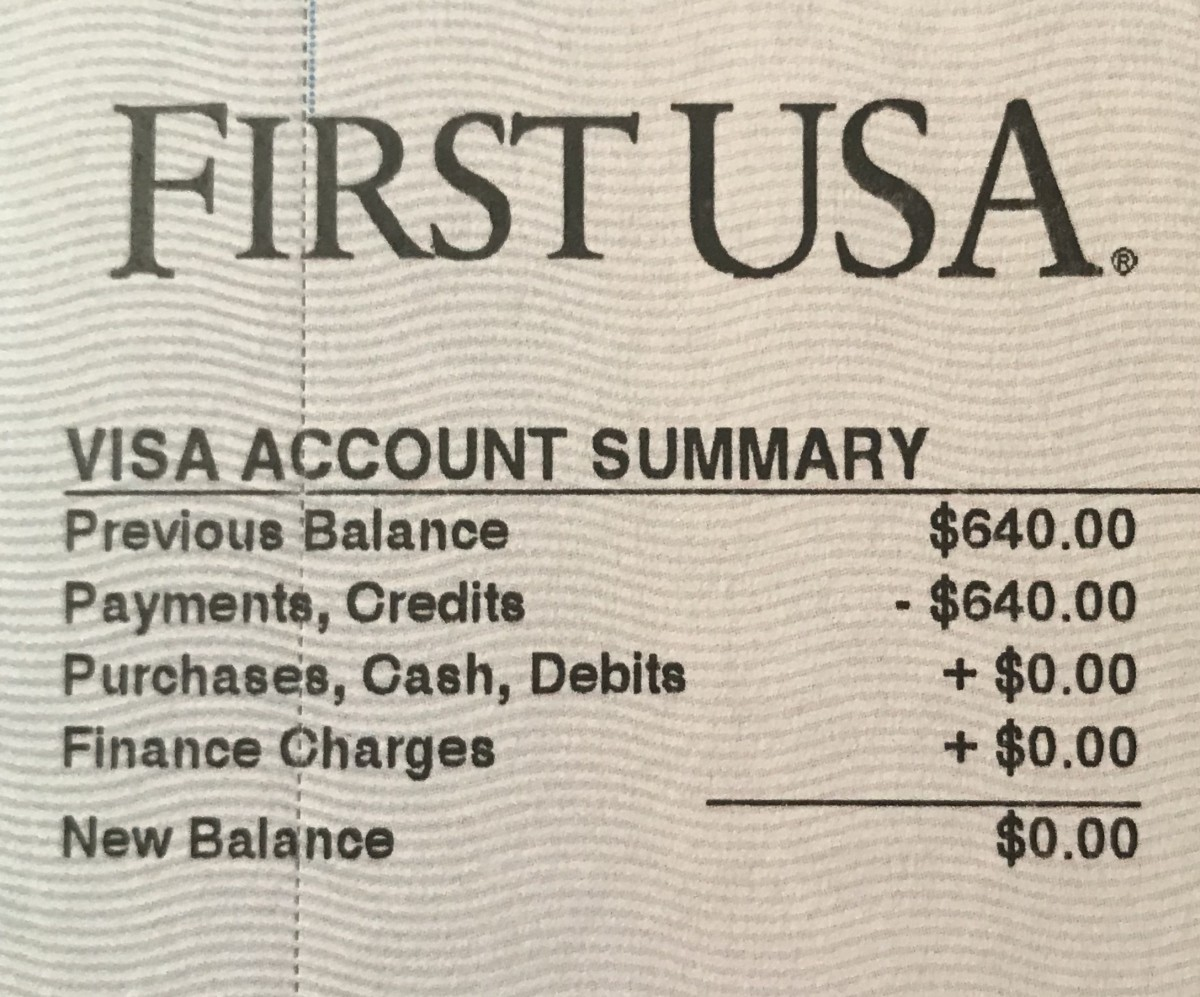 I was actually excited to receive this credit card statement. I paid off this card in 2002.