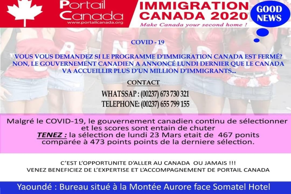 This is the Canadian Immigration Agency which Amos applied through. If you are in Cameroon, you may want to take a close look at it!
