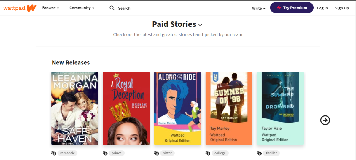 Paid stories