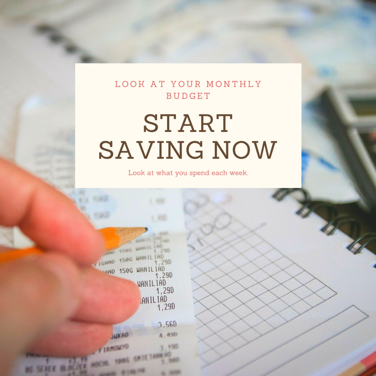 Look at your monthly finances and cut costs where you can.