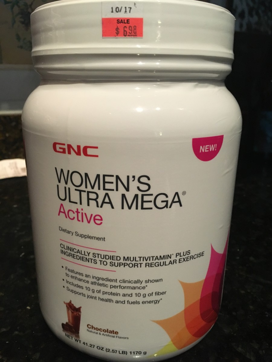 Bought this large container of protein powder mixed with vitamins for $6.98 at GNC! Sign up for their rewards and get $5 for completing your profile--which was a few questions. Their Cheddar & Sour Cream protein chips are not too bad and 20 grams!