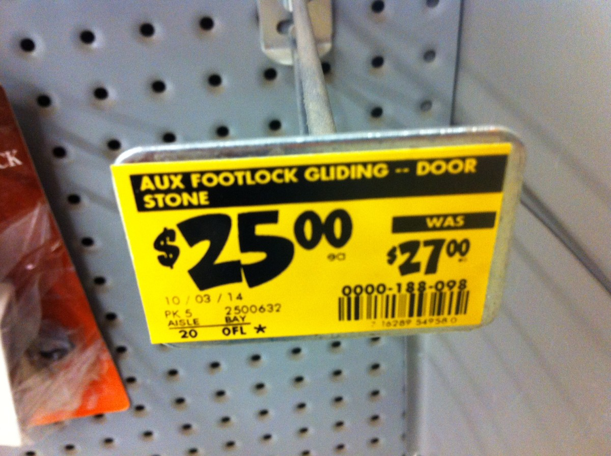 Clearance signs are yellow - these older tags are slowly becoming obsolete.